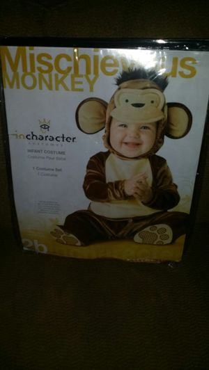 NEW!!!! Baby Mischievous Monkey Costume for Sale in Fishers, IN