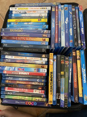 Disney & more movies collection + blue ray player and cd. rack for Sale in North Miami Beach, FL
