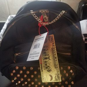 Brand new black leather mini backpack for Sale in East Point, GA