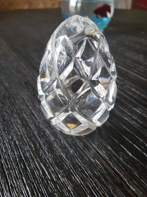 Crystal egg paperweight for Sale in Frederick, MD