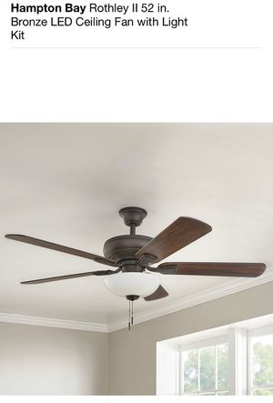 Hampton Bay 52 in. LED Ceiling Fan with Light Kit for Sale in Los Angeles, CA