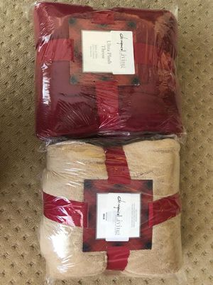 Plush throw blankets new for Sale in North Las Vegas, NV