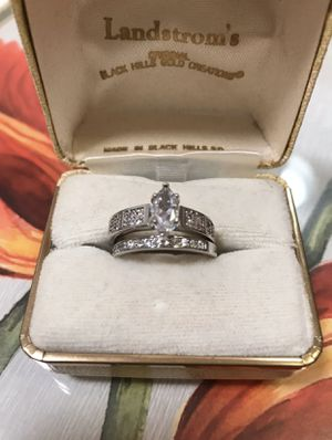 925 Stamped Sterling silver Sapphire Engagement/Wedding Ring for Sale in Jacksonville, FL