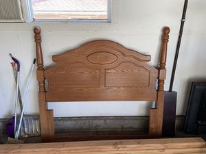 Queen Bed frame and head board and foot board for Sale in Overland Park, KS