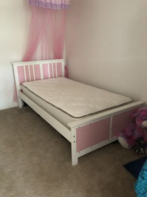Newer Girls Twin bed with mattress for Sale in Jackson, CA