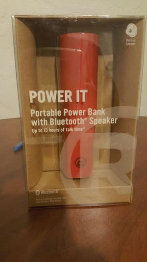 Power It. portable power bank with SPEAKER for Sale in Pittsburgh, PA