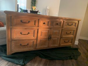 French Country 10 Drawer dresser Solid Wood for Sale in Carmichael, CA