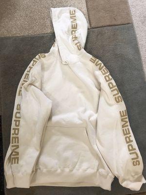 Supreme Metallic Rib Hooded Sweatshirt Size XL Natural BRAND NEW for Sale in Lexington, SC