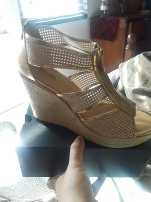 Gold glitter Michael Kors wedges for Sale in Santee, CA