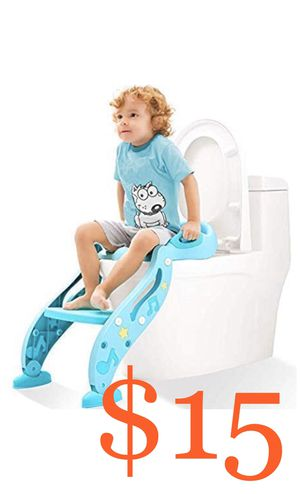 Potty Training Seat for Kids,Adjustable Toddler Toilet Potty Chair with Sturdy Non-Slip Step Stool Ladder, Comfortable Handles and Splash Guard, Easy for Sale in Rancho Cucamonga, CA