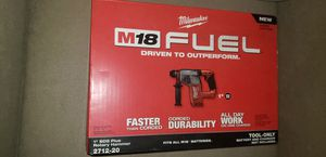 New Milwaukee m18 fuel brushless rotary hammer drill for Sale in Richmond, CA
