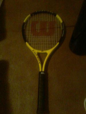 Wilson tennis racket titanium 50-60lbs for Sale in Oakland, CA