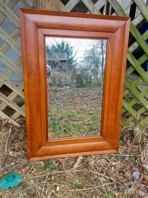 Handcarved Maple Wood Wall Mirror for Sale in Fairfax, VA