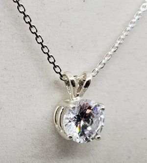 Natural Round Clear Topaz Silver Necklace for Sale in Justin, TX