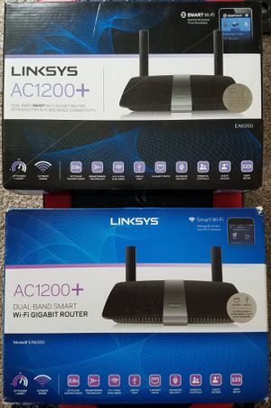 2 LINKSYS Wi-Fi GIGABIT Routers for Sale in Channelview, TX