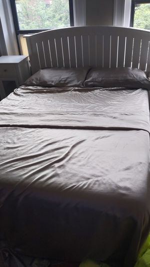 Bed with box spring and mattress for Sale in Boston, MA