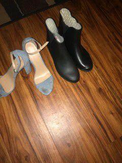 Heels, rain boots (together) for Sale in Alexandria, VA