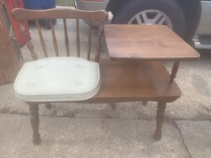 Vintage gossip bench / phone table for Sale in Virginia Beach, VA