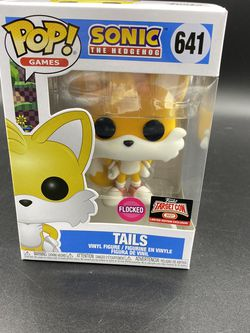 Funko Pop! Games Sonic Tails #641 Flocked Target Exclusive (Target Con 2021) for Sale in Peoria,  IL