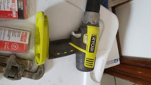 Ryobi drill and kit, black and decker table saw like new four packs nails for nail gun. for Sale in Waltham, MA