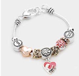 Love you mom charm bracelet for Sale in Parkville, MD