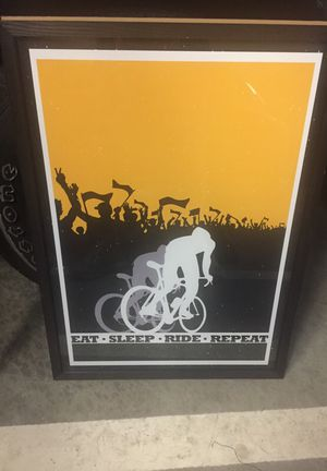 Biking poster for Sale in San Francisco, CA