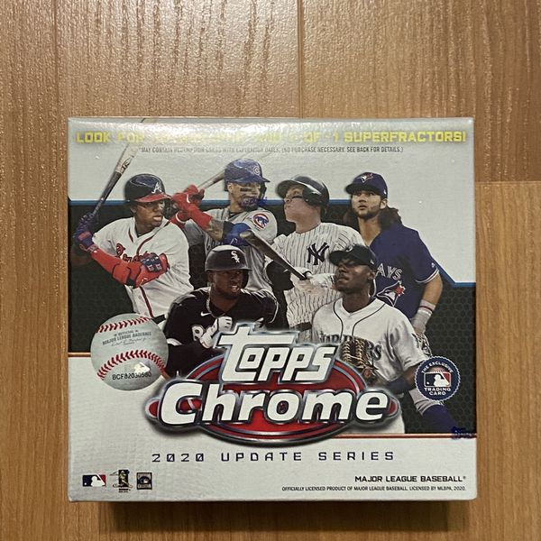 Topps Chrome Baseball 2020 Update Series Box.