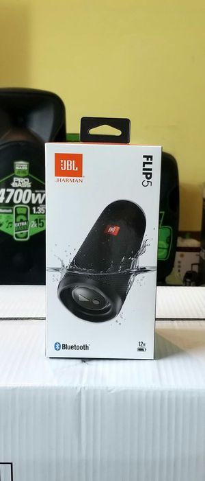 Speaker JBL FLIP 5. 12 hours of playing time. Waterproof. Bluetooth. BRAND NEW. for Sale in Miami, FL