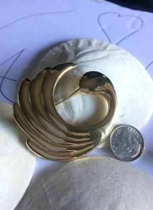 Vintage Swan gold tone brooch for Sale in Sacramento, CA