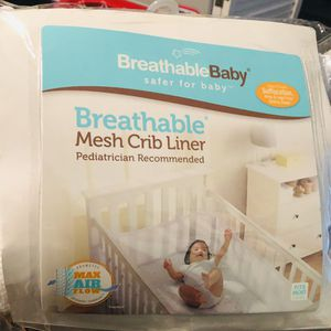 Breathable mesh crib bumper for Sale in Ontario, CA