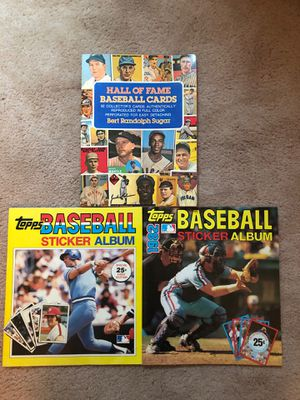 Baseball Items - Sticker Albums and Hall of Fame Reproduction Cards for Sale in Princeton, NJ