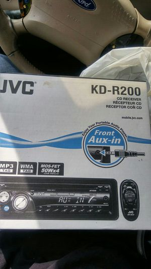 Jvc kdr200 cd receiver car audio with aux and remote for Sale in Raleigh, NC
