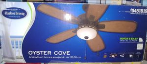 Harbor Breeze Oyster Cove 52-in Aged Bronze Downrod or Close Mount Indoor/Outdoor Residential Ceiling Fan with Light Kit for Sale in Fontana, CA