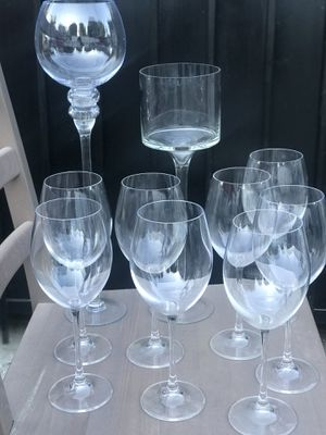 Wine glasses different size and shape for Sale in Los Angeles, CA