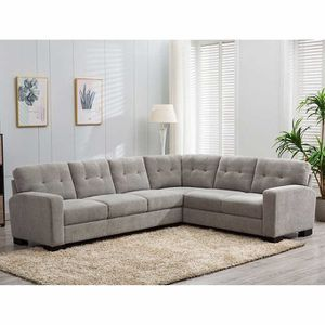 Black Friday   COSTCO Fabric Sectional, Gray   NEW IN BOX   🔥$50 DOWN for Sale in San Diego, CA