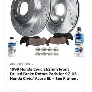 99-05 Honda Civic Acura EL Front Brakes for Sale in Colorado Springs, CO