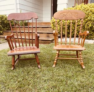 2 Beautiful Real Wood Children's Rocking Chairs for Sale in Norfolk, VA