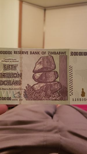 50 Trillion Zimbabwe Dollars! for Sale in Andover, MN