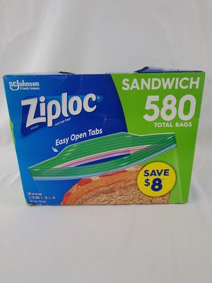 Ziploc Easy Open Tabs Sandwich Bags 580, 145 Count (Pack of 4) #(R2S4) for Sale in Aurora, CO