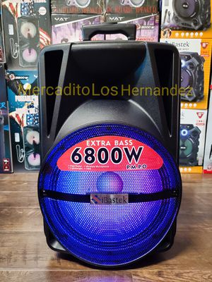 "Bocina Nueva Bluetooth Speaker 12"" 6800 Watts Wireless 🎤 Included LED LIGHTS !!! Rechargeable 🔋 +++ New in Box for Sale in Los Angeles, CA"