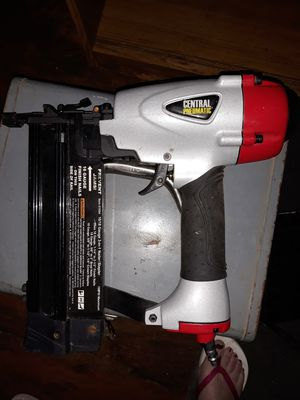 Nail gun ( central newmatic )/ plu box of nails for Sale in St. Louis, MO