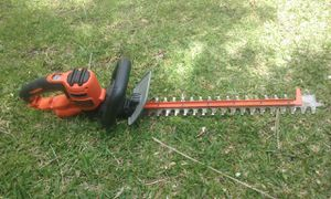 Black and decker electric leaf trimmer practically new price is firm no lowballers please for Sale in Rialto, CA