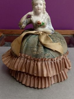 Antique German Marie Antoinette Half Doll Pin Cushion for Sale in Troutdale,  OR