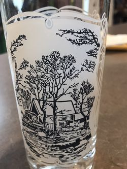 Vintage CURRIER AND IVES Glassses 4 for Sale in West Chicago,  IL