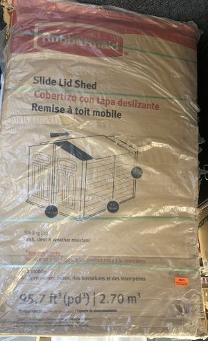 New Slide Lid Shed By Rubbermaid for Sale in Virginia Beach, VA