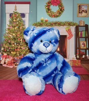 Build A Bear Blue Snowflake Winter Hugs Flurry Teddy Stuffed BABW Plush Retired for Sale in Dale, TX