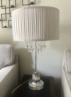 Silver Gray Crystal Chandelier Pier One (2) Lamps for Sale in Port Orchard, WA