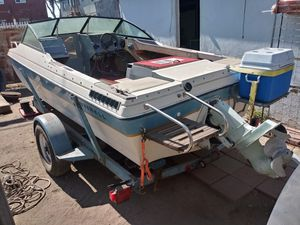 Small Project boat. 14 foot open bow. Motor and out drive work. Been sitting for a while. Trailer included. for Sale in Los Angeles, CA