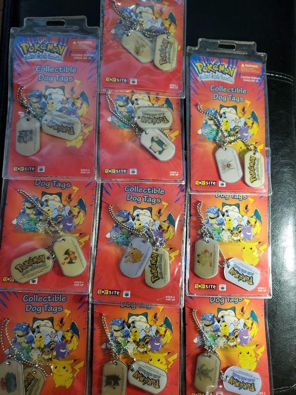 Complete Pokemon Dog Tag Set Of 10