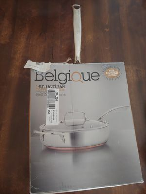 Belgique Copper Bottom 4-Qt. Saute Pan with Lid for Sale in Pembroke Pines, FL